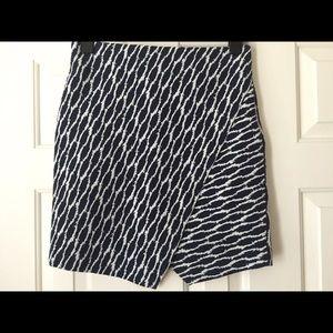 Ann Taylor LOFT knit asymmetrical wrap-look skirt